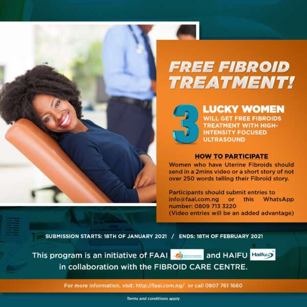 FREE FIBROID TREATMENT 3 LUCKY WINNERS FLYER 600x600 - Free Fibroid Treatment